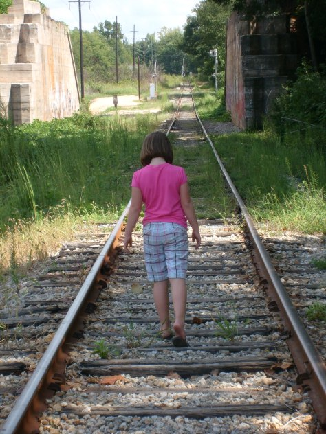 My Daughter Gracie WalkingThe Tracks That I Grew Up On!
