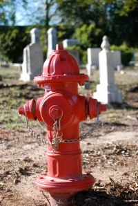 I had to take this picture - actual hydrant in a grave yard!