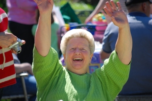My Aunt Judy Having Fun At Easter Lunch!
