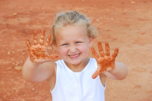Muddy Hands & A White T Shirt!