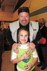 Daddy And Gracie Last Year At Sweet Treat Alley!